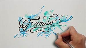 Diseño letras FAMILY / FAMILY lettering tattoo Nosfe Ink Tattoo YouTube