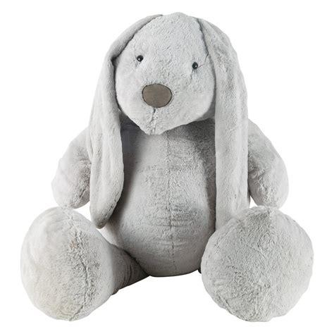deco chambre ado fille peluche lapin grise h 96 cm bunny maisons du monde