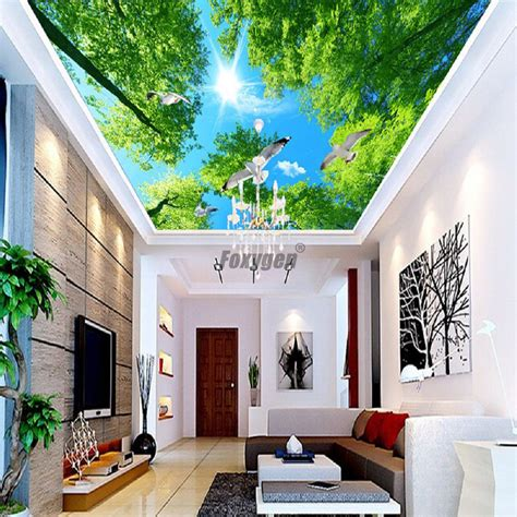 hall ceiling decor digital printed  uv printing false