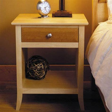 wood magazine downloadable woodworking project plan  build maple cherry nightstand