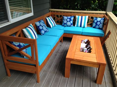 ana white weatherly sectional  shaped diy projects