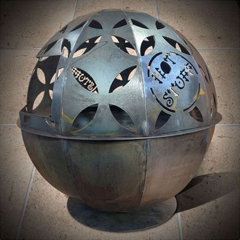 piece sphere brazier  internal fire pit size mm