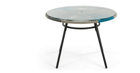cool outdoor tables copa dining table cool blue made com