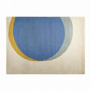 ellipse tapis tissu habitat With tapis bleu jaune