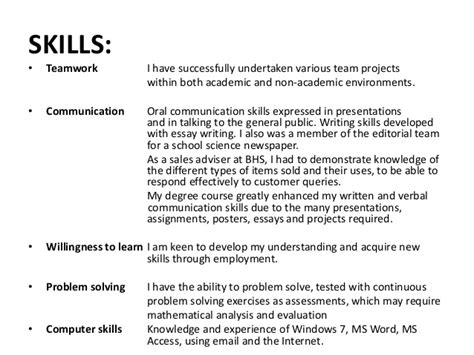 Communications Skills Resume by Revising My Curriculum Vitae