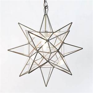 Moravian star quot pendant chandelier extra large clear