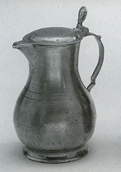 pewter jug  lid italian handmade pewter tankards