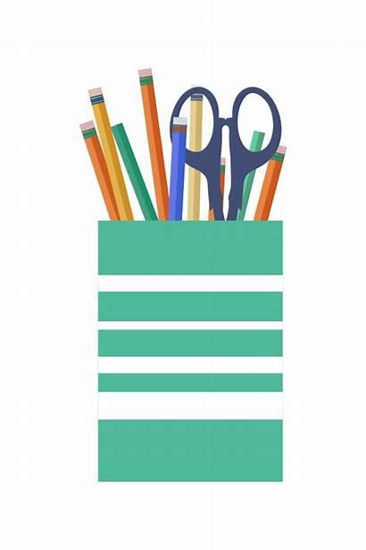 Office Pencils Pens Cup Scissors Clip Onlinelabels