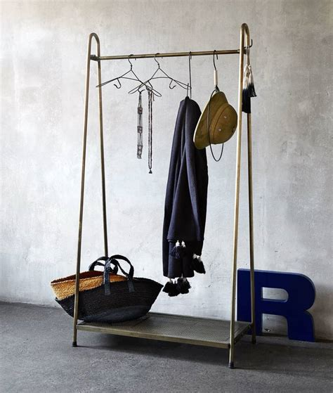 brass clothing rack the alternative to wardrobes the clothes rail the