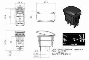 Boat Marine Waterproof Off Road Light Led Switch Panel Circuit Breaker 12v 24v