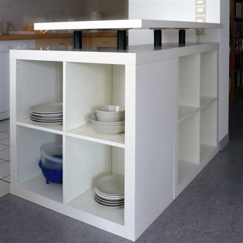 diy ikea hack l shaped expedit kitchen island diy