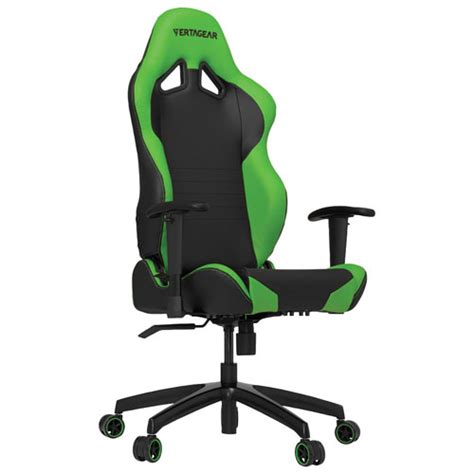 vertagear s line faux leather gaming chair black green