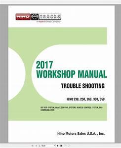 Hino Truck Workshop Manuals  2001