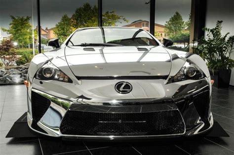 lexus chrome chrome wrapped lexus lfa is for sale autoevolution