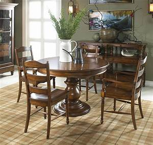 The, Summer, Home, Round, Table, Dining, Room, Collection, In, Lodge, Finish
