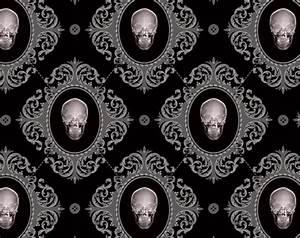 Gothic wallpaper – skulls — thefashionatetraveller.com
