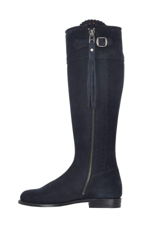 wild suede spanish boots   black navy
