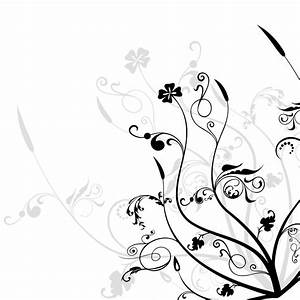 14 Black And White Floral Designs Images