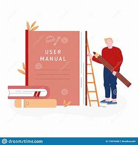 User Manual Tutorial Concept  User Reading Guidebook And
