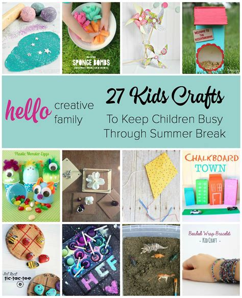 27 Kids Crafts And Diy Projects For Summer