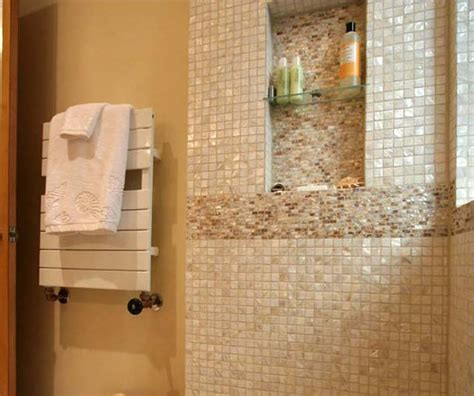 Pearl Mosaic Bathroom Tiles by Of Pearl Tile Shower Liner Wall Backsplash
