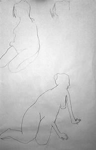 Artwork of Edmund Aubrey: Life Drawing 6 - Female Model