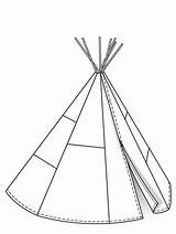 Pattern Tipi Patterns Tent Sewing Teepees Paper Burdastyle Tents Quilt sketch template