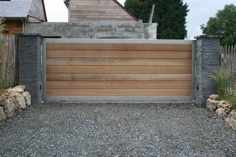 Portail Metal Bois Portillon 80 Cm