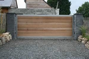 Portail En Bois Pas Cher : portail metal bois portillon 80 cm sfrcegetel ~ Melissatoandfro.com Idées de Décoration