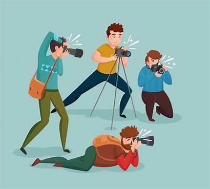 Paparazzi Vector Concept Photographers Portrait Photographer Logos