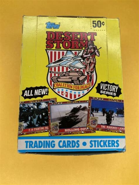I started collecting in 1985. 1991 Topps Desert Storm Trading Card 36ct Cards Victory Series Plus 88 Set for sale online | eBay