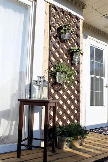 Wall Decor Porch Lattice Pots Hanging Designs