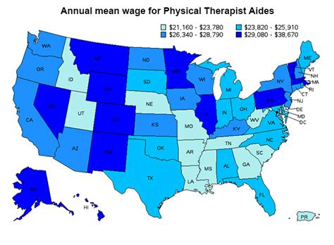 Therapist Salary By State by Physical Therapist Assistant Career And Information