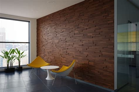 Walnut Wood Paneling Mosaic Interior Mosaic Wood Wall