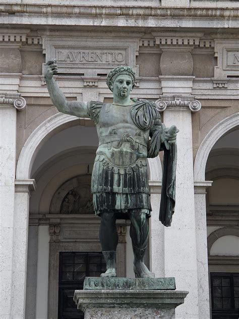bronze statue  constantine  great  front  san lor