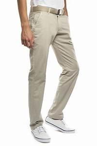Pantalon Décontracté Homme : pantalon beige homme chino coton pima stretch new park ~ Carolinahurricanesstore.com Idées de Décoration