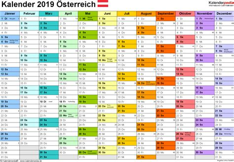 kalender oesterreich zum ausdrucken als