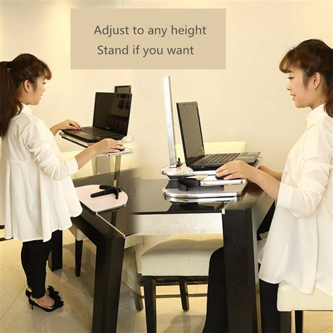 how to use a standing desk standing desk lifting laptop stand desk table height