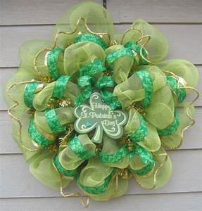 a9822108e9d539 34 best ideas about wreaths st patrick on pinterest deco mesh irish and mesh