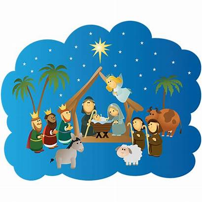Nativity Scene Children Childrens Wall Christmas Star