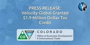 Velocity Global Granted $1.9 Million Dollar Tax Credit