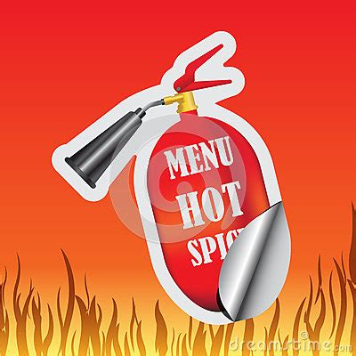 stickers protection cuisine spicy sticker stock vector image 65130816