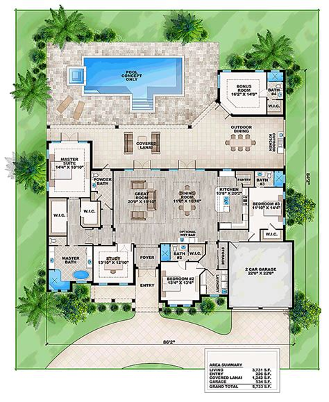 one house plans with large kitchens house plan 52912 at familyhomeplans com