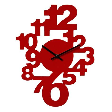 pendule de cuisine moderne horloge murale chiffres couleur maison futée