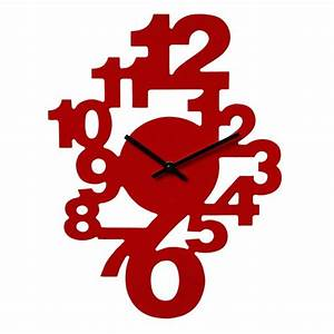 Horloge Murale Rouge : horloge murale chiffres couleur rouge maison fut e ~ Teatrodelosmanantiales.com Idées de Décoration