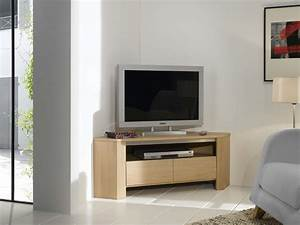 Meuble TV D39angle Contemporain En Chne Lucas Meubles Turone