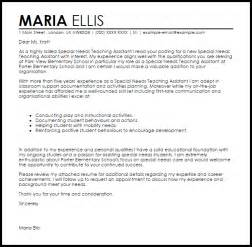 teaching assistant resume cover letter special needs teaching assistant cover letter sle livecareer