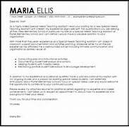 Special Needs Teaching Assistant Cover Letter Sample Letter Sample Cover Letters And Letters On Pinterest Cover Letter Teachers Aide Cover Letter Template For Resume For Teachers Teacher
