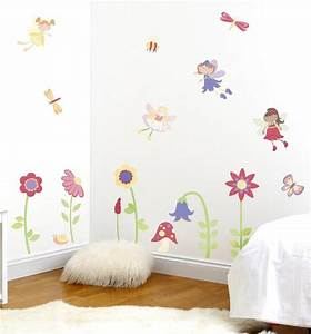 fairy garden wall decals girls bedroom decor fun rooms With enchanting ideas decals for kids walls