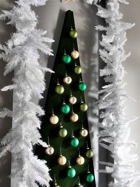 wall mounted christmas tree alternative hgtv